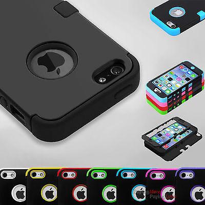 Hybrid Shockproof Hard&Soft Rugged Cover For Apple iPhone SE
