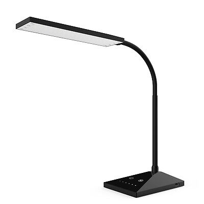 12W Touch Sensor Flexible Dimmable 7 LED Desk Table Lamp Bed