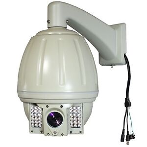 CCTV-480TVL-264X-zoom-PTZ-IR-Outdoor-Dome-Security-High-Speed-Camera-D-N-W-Mount