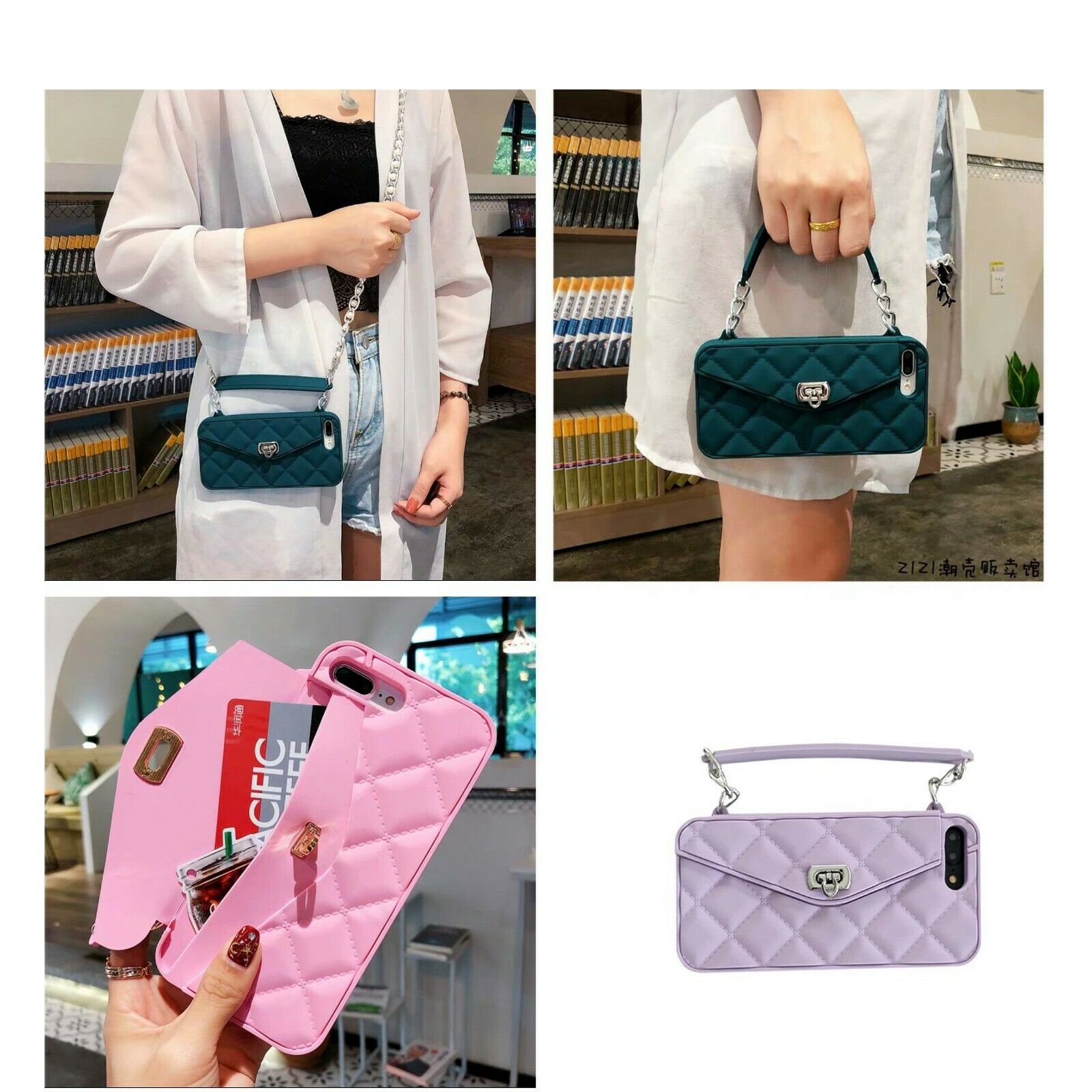 For iPhone X XS MAX 7 8 Handbag Crossbody Chain Wallet Strap Card Case Cover Cases, Covers & Skins