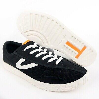 Tretorn Herren Schuhe Sneakers (Tretorn Andre 3000 Benjamin Nylite Black White Orange Canvas Suede Low Top 8.5)