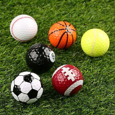 Novelty Golf Balls Multi Ball Golf Game Indoor Outdoor Training Sports Fans Gift