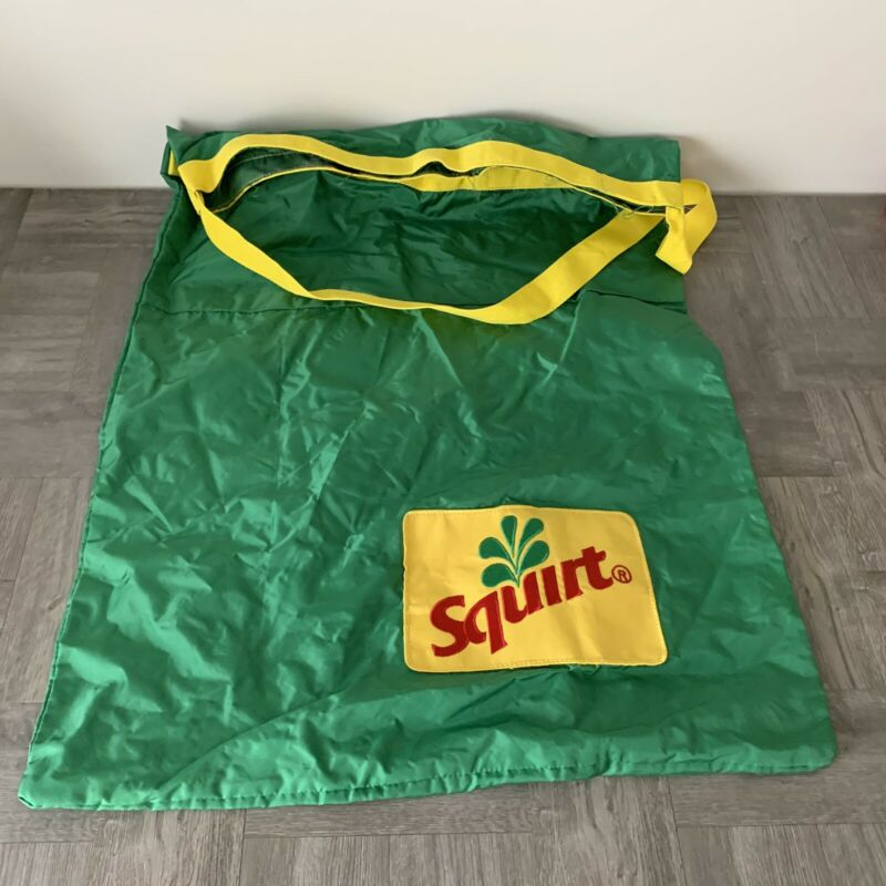 LARGE OLD VINTAGE USED DRINK SQUIRT Laundry Style Bag SODA POP ADVERTISING