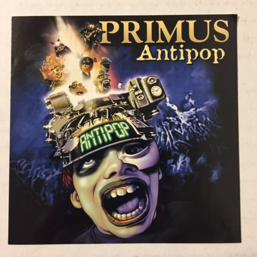 Vintage 1999 Primus Antipop Promo Only Sticker Cover Art Interscope Records 4x4