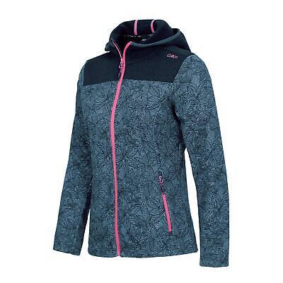 CMP Damen Strick Fleece Jacke Outdoor Trekking Wandern Sport Mode atmungsaktiv