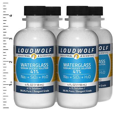 Sodium Silicate 1 Lb Total 4 Bottles Reagent Grade 41 Solution Usa Seller