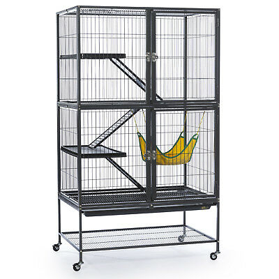 LARGE FERRET CAGE Chinchilla Rabbit Hamster Guinea Pig House Small Pets Home Bla - House Pet Pigs