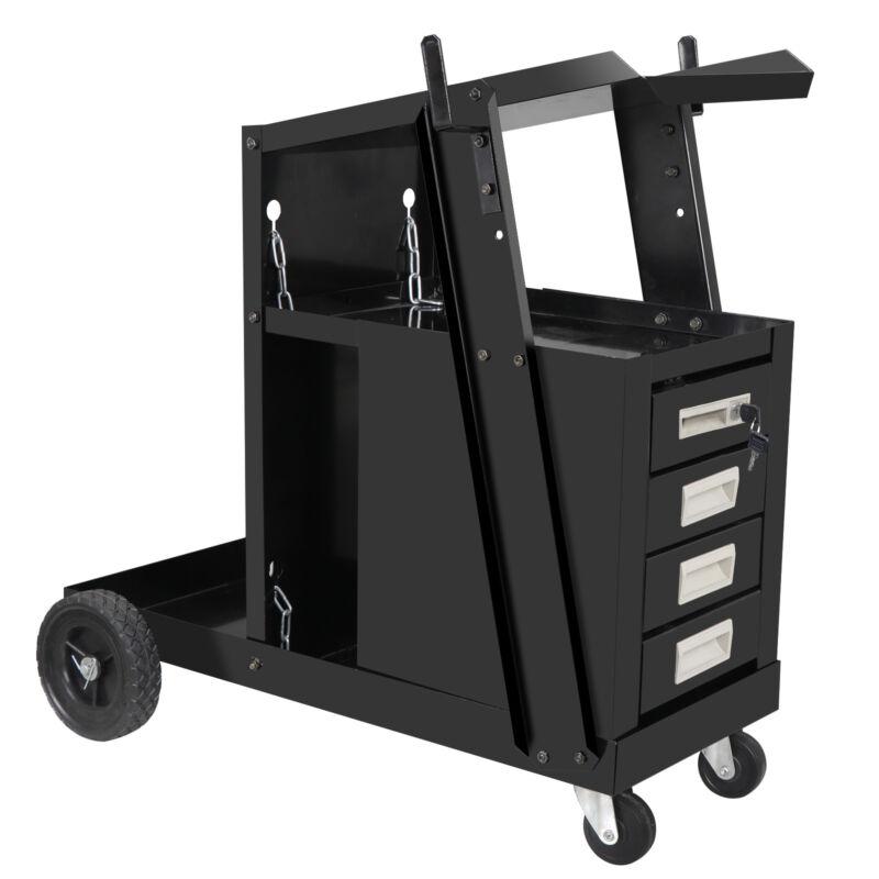 Movable Welding Welder Cart MIG TIG ARC Plasma Cutter Tank Storage for Workshops