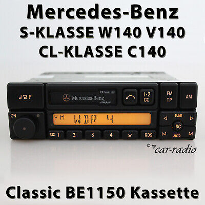 Original Mercedes Classic BE1150 W140 Autoradio S-Klasse C140 CL-Klasse Kassette