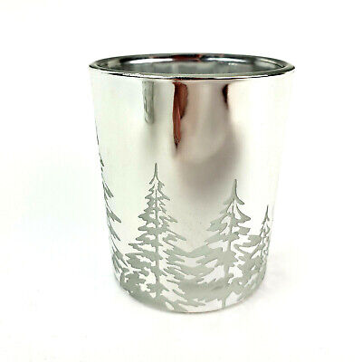 Yankee Candle Winter Trees Silver Votive Tealight Holder