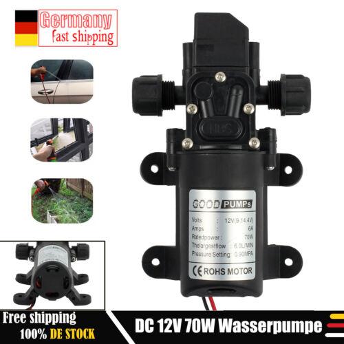 12V 6L//Min Druckwasserpumpe Wasserpumpe Gartenpumpe Pumpe Hauswasserwerk 70W neu