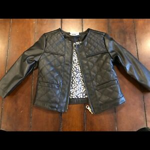 12mos girls 'leather look' spring jacket