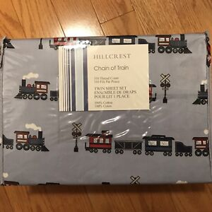 Twin Sheet set for boys - Trains. Brand new!!