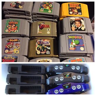 Nintendo 64 consoles games N64 postage available trusted seller Avondale Heights Moonee Valley Preview