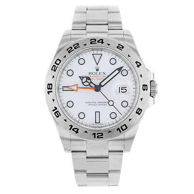 Rolex Explorer II 216570 WSO White Dial Date Steel Automatic Men's Watch