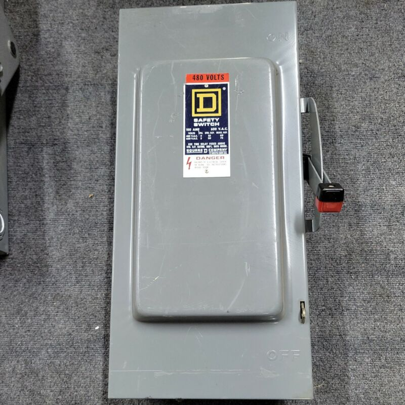 SQUARE D H363N 100A 600V 3R TYPE 1 FUSIBLE HEAVY DUTY SAFETY SWITCH H363