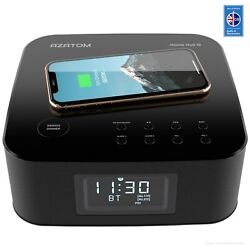 AZATOM HomeHub Q Wireless charger Alarm Clock Radio iPhone Samsung Bluetooth (R)