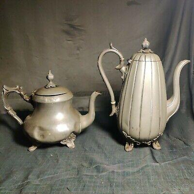 Antique Victorian James Dixon & Sons Sheffield Coffee Pot & Teapot Not Perfect