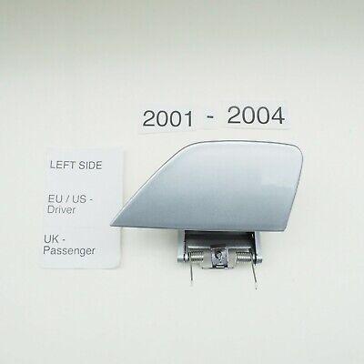 BMW 7er E65 E66 2001-2004 Left Side Headlight Washer Cover Silver Metallic