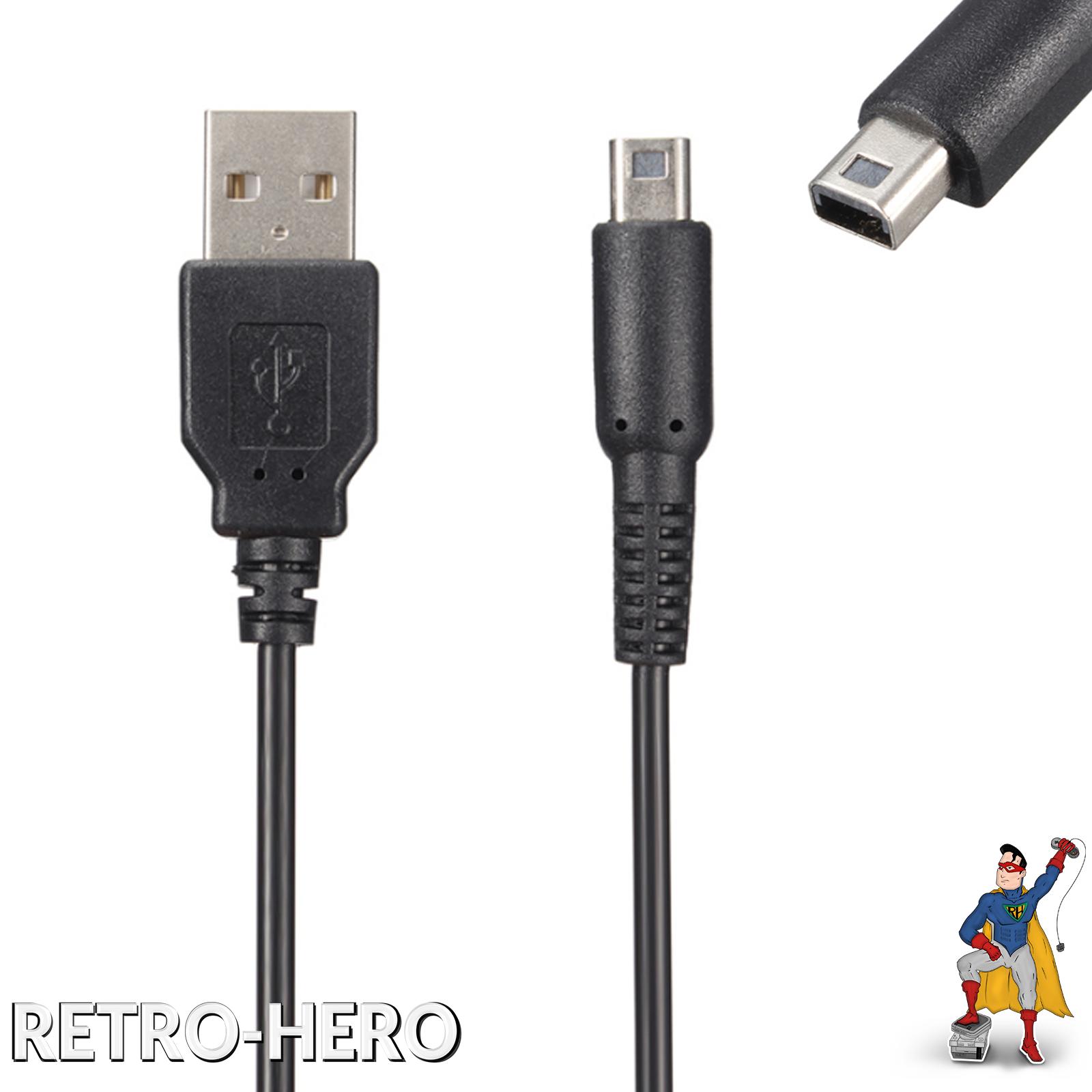 Ladekabel USB Kabel Nintendo 3DS, 3DS XL, DSi, DSi XL, 2DS Stromkabel Datenkabel