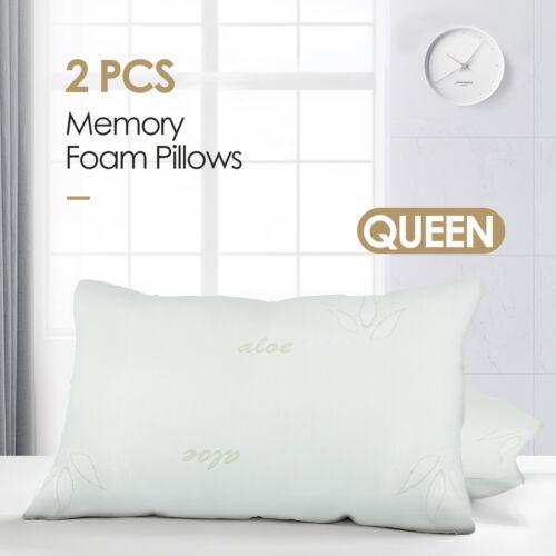2PCS Queen Size Original Bamboo Memory Foam Pillow Hypoaller