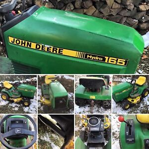 John Deere Hydro165 riding mower. Tuned up and ready to go.
