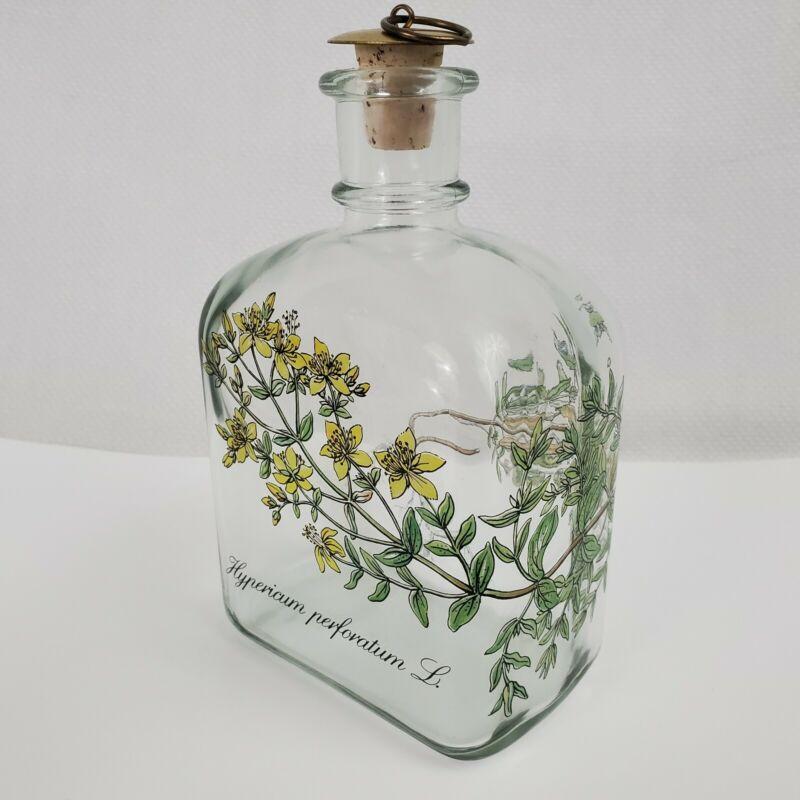 Holmegaard of Copenhagen Glass Decanter Bottle, Dram, Hypericum perforatum L.