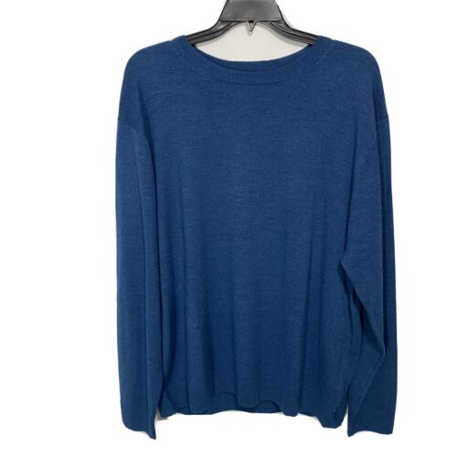 $99 Hart Schaffner Marx Crew Neck Sweater Pullover 3XT 3XLT Blue Merino Wool NWT Clothing, Shoes & Accessories