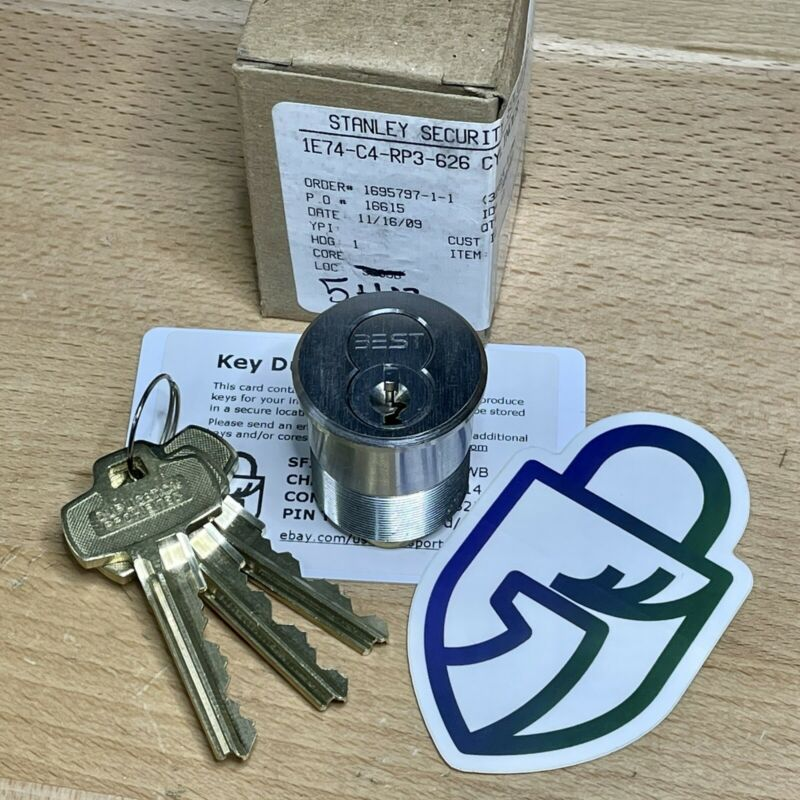 BEST 7-Pin WB Keyway SFIC in Mortise Cylinder Housing w/ Op+Ctl Keys - Locksport
