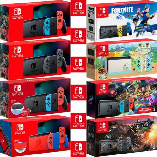 Nintendo Switch Console Animal Crossing Fortnite Mario Kart Monster Hunter Rise