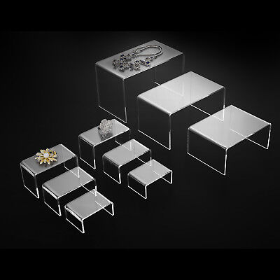 Mecor 9 Clear Acrylic Risers Jewelry Display Stands For Exhibition Collection