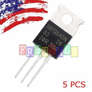 5 x IRF9540 P-Channel Power MOSFET 23A 100V TO-220