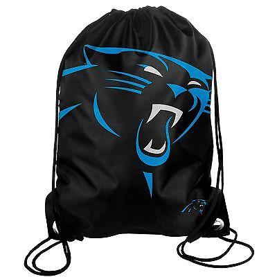 Carolina Panthers Back Pack/Sack Drawstring Bag/Tote NEW Backpack BIG LOGO - Carolina Panthers Backpack