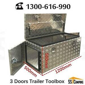 3 doors trailer toolbox Aluminium  L1200*W500*H500 Brand New