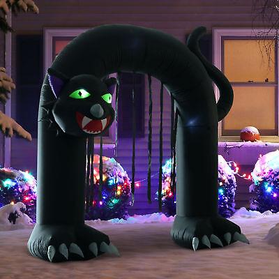 9' Halloween Inflatable Infernal Cat Archway Door Airblown Outdoor Yard Decorations