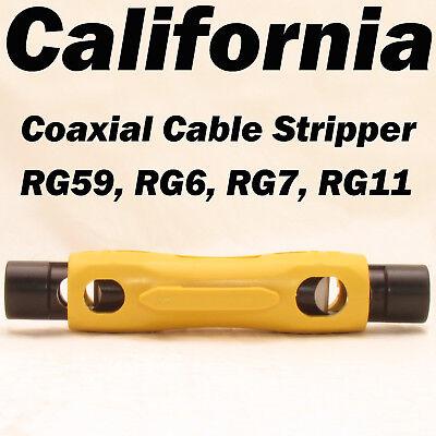 - Speedy Coax Coaxial Cable Jacket Cutter Stripper Tool RG6 RG59 RG7 RG11 UTP STP