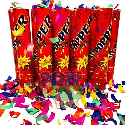 6 Party Poppers Confetti Wedding Shooter Cannon Streamer New Years Eve Christmas](New Year's Poppers)