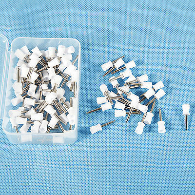 100x Dental Latch Type Polishing Polisher Firm Prophy Cups Rubber White Sales