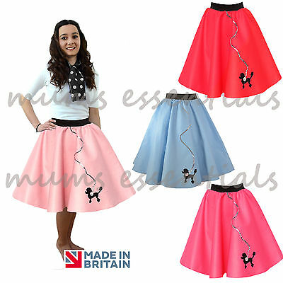 50s/60s Original POODLE SKIRT Felt Rock and Roll Plus Size ADULT Fancy Dress (50 S Rock And Roll)