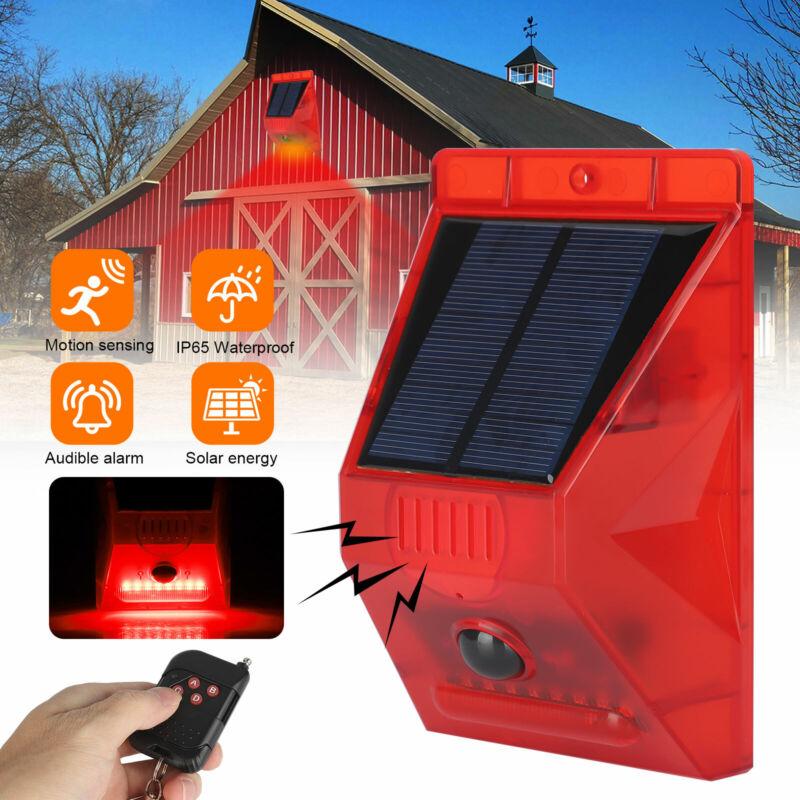 Waterproof Solar Alarm Light Strobe Warning Light Wireless Motion Sensor Outdoor
