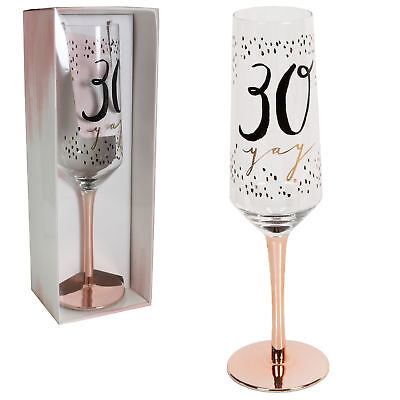Luxe Birthday Flute 30 30th Birthday Gift Idea