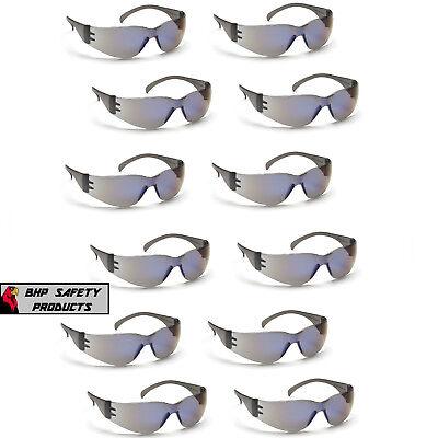 Pyramex Intruder Safety Glasses Blue Mirror Lens Sunglasses S4175s Z87 12 Pr