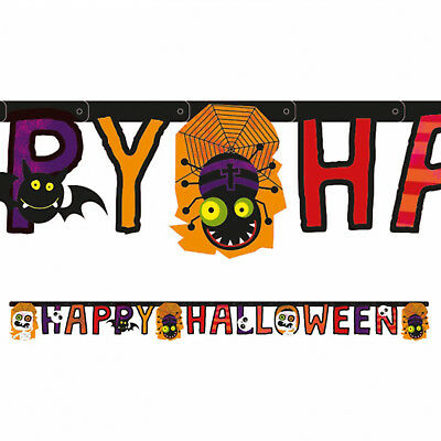 Halloween Friendly Letter (1.8m Happy Halloween Party Friendly Mummy Jointed Letter Banner)