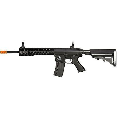 "Lancer Tactical LT-12BK M4 Automatic Electric 10"" Keymod Rail AEG Airsoft Rifle"