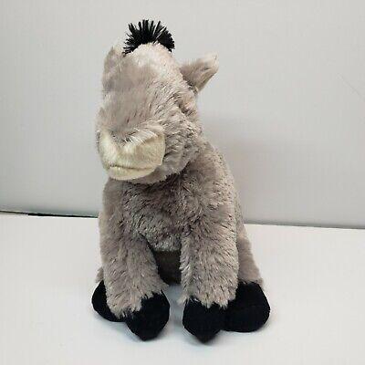 "Wild Republic Donkey Plush Stuffed Animal 11"" Gray 2013"