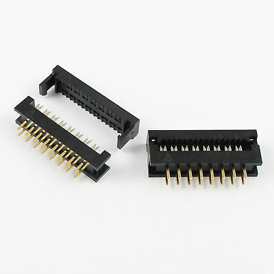 10pcs 2.54mm 2x8 Pin 16 Pin Male Header Idc Ribbon Cable Transition Connector