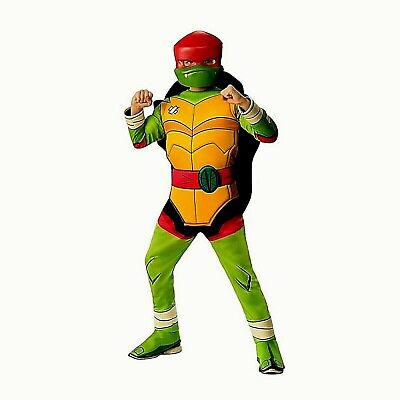 Rise of Teenage Mutant Ninja Turtles Raphael  Boys Halloween Cosplay Costume NWT