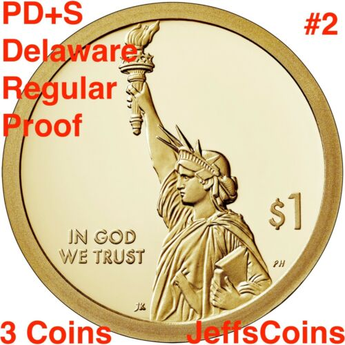 2019 PDS PROOF American Innovation Dollar Delaware #2 Classifying Stars P D S 3