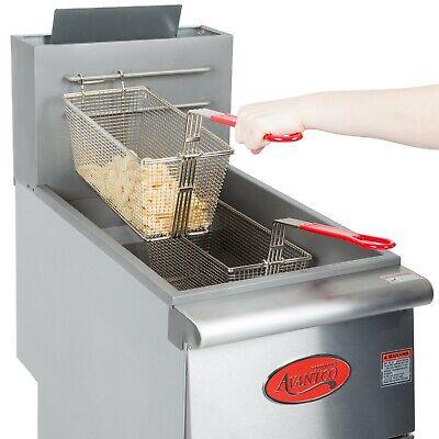 40 Lb. Liquid Propane Commercial Restaurant Stainless Steel Floor Deep Fryer