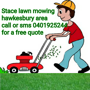 Lawn mowing services hawkesbury and surrounding areas South Windsor Hawkesbury Area Preview